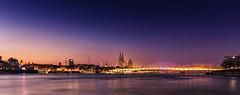 Cologne Skyline///explored (stevefoltinek) Tags: cologne skyline nightshoot köln pollerwiesen dom cathedrale brücke rhein tokina langzeitbelichtung longtimeexposures