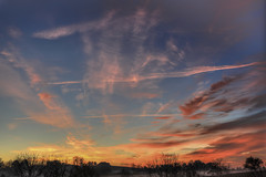 Red Morning Clouds (Klaus Ficker --Landscape and Nature Photographer--) Tags: clouds redclouds sunrise fogy groundfog fog erly morning morninglight sky milfonclouds kentucky usa kentuckyphotography klausficker canon eos5dmarkiv hill hdr
