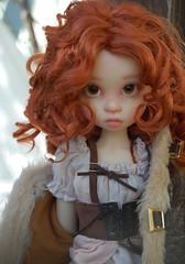 Gracie in the Snow (Emily1957) Tags: kayewiggs gracie bjd doll dolls toy toys snow velvet white whitevelvet light naturallight nikond40 nikon kitlens