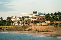 Playa del Duque golden hour. Tenerife 2017 (arsenterzyan) Tags: canoneos5 tenerife ektar100 eos5 ocean playa city canary island adeje travel golden hour sundet