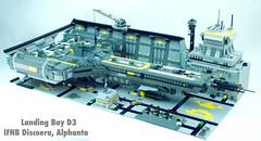 Landing Bay D3, IFNB Discoera, Alphanta (JBIronWorks) Tags: space scifi lego awesome moc sciencefiction landingbay ship starship battlecruiser warship