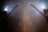Sharding (Sean Batten) Tags: reflection london england unitedkingdom gb nikon df 35mm theshard window glass lights crane city urban fog mist dark