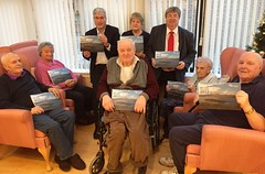 Promoting Age Scotland Hot Tips calendar at Tranent sheltered housing