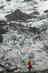 Vastness (Sofia Podestà) Tags: iceland vatnajokull glacier landscape vastness red ice mountain north arctic nature vertical immensity nordic islanda ghiacciaio ghiaccio snow neve volcano vulcano vulcanic sofia podestà sofiapodestà sofiapodesta photovogue