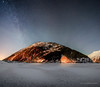 Tunnel light (Traylor Photography) Tags: alaska night winter halfmoon stars mountains moon panorama snow softlight begichboggsvisitorcenter moonlight milkyway lake portage clouds anchorage glacier cold stack iceberg frozen unitedstates us