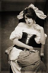 The Cellar 13 (Mark_Dangerous) Tags: woman model vintage poisonapple cellar dark fairytale magical medieval corset dress evil photoseries colorgrading photostory spell femmefatale portrait