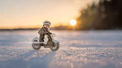 Biking on the Lake (Reiterlied) Tags: 18 35mm bike d500 dslr finland jynerso lego legography lens minifig minifigure nikon oulu photography prime reiterlied rogueone snow starwars stuckinplastic sunset toy winter