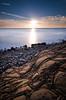 (Fabio De Santis) Tags: nikon d5100 sigma landscape longexposure sky sea seascape sunset fabiodesantis sun rocks civitavecchia lazio italy