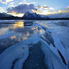Icy Abraham (Len Langevin) Tags: frozen ice abrahamlake iceheave rocky mountains rockies alberta canada winter cold sunrise samsung galaxy s6 wow