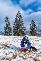 Having Fun With Denzel Malamute (Wolfhowl) Tags: carpathians fun landscape winter dzembronia mountains 2016 карпати clouds january alaskanmalamute дземброня snowdog dog denzel маламут snow ukraine україна malamute
