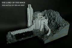 The Lord of the Rings- The Battle of Helm's Deep (KevFett2011) Tags: kevfett2011 lord rings the two towers helms deep afol tfol lego abs 2017 art artist landscape rockwork uruk hai army 10000