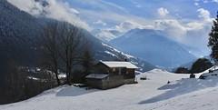 Le Pettet (bulbocode909) Tags: valais suisse lepettet vollèges paysages alpages arbres nature montagnes hiver neige nuages brume forêts bleu chalets valdentremont