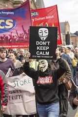 P69A2836 (ca2cal) Tags: road street city england people urban newcastle demo march flag union rally protest northumberland socialist anti fascist socialism tyneandwear northumberlandroad austerity canonef24105mmf4lisusm canon5dmkiii antiausterity anticuts newcastleunities endausteritynow