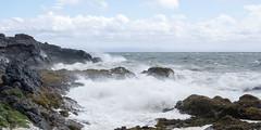 6-6-2015 (Copperhobnob) Tags: sea sky sun storm beach clouds coast scotland waves fife gale shore elie