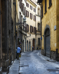 Buongiorno amico mio (BAN - photography) Tags: windows men oldbuildings shutters grates shopkeeper pavestones d800e