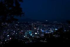 Seoul's Night Sight (Miquel Llagostera) Tags: contrast temple korea seoul vacaciones templo seul vactions