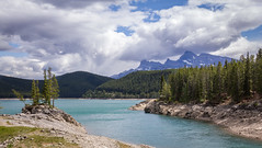 Minnewanka Shores (Jerry Bowley) Tags: hiking hike alberta banffnationalpark parkscanada lakeminnewanka mtinglismaldie