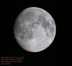 Moon, 30 june 2015 (Dave Lillis) Tags: irishastronomy shannonsideastronomy