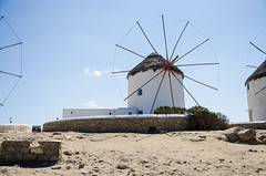 mykonos windmill (sixthofdecember) Tags: travel sky building windmill sunshine architecture buildings outside outdoors island sand nikon europe sunny windmills greece tamron griechenland mykonos tamron18270 nikond5100