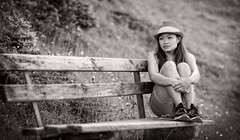 Dreaming away... (Frank Busch) Tags: summer people blackandwhite bw woman monochrome asian austria blackwhite lynn penken finkenberg photobyfrankbusch frankbuschphotography imagebyfrankbusch wwwfrankbuschphoto