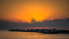 Sunset in Sanremo, Italy (Oleg.A) Tags: sunset italy evening liguria sanremo
