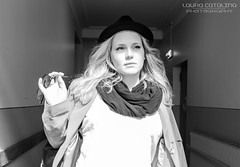Just a beautiful girl. (Laura-Catalina) Tags: street blackandwhite white black girl beautiful fashion closeup female pose photography model downtown pretty photoshoot action sweden stockholm sdermalm modeling fashionphotography gorgeous models dancer agency femalemodel casting sder stockholmcity