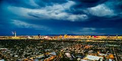 Las Vegas Skyline with storm