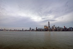 Manhattan skyline at dusk (cmfgu) Tags: newyorkcity newyork ny nyc jerseycity newjersey nj manhattan island skyline dusk twilight evening night hudsonriver empirestatebuilding oneworldtradecenter craigfildesfineartamericacom