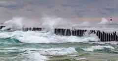 Bitchy (Aaron Springer) Tags: waves michigan piers lakemichigan elberta whitecaps northernmichigan thegreatlakes