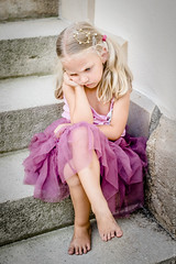 little sad princess (locrifa) Tags: pink summer white cute girl beautiful wearing fashion female stairs hair person kid pretty babies child sad looking dress princess little sweet outdoor young adorable style human crown lovely pouting caucasian