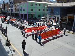 Protests, Huaraz, Peru