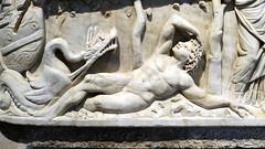 Ketos and Jonah (in pose of Endymion), Santa Maria Antiqua Sarcophgus