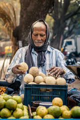 (Akhil G) Tags: canon 50mm street bazaar fruits fruitseller india bangalore karnataka portrait candid