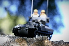 """""""Target Aquired"""" (ABS Defence Systems) Tags: lego tank afv light cvrt scimitar outside outdoors bley vehicle tracked brickmania track links prototype"""
