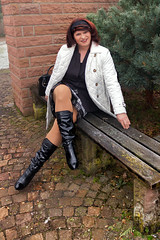 TF1a (Tinaturtle27) Tags: crossdresser transvestite pantyhose boots