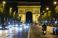 Champs-Élysées (Stefan Lambauer) Tags: champsélysées paris arcdetriomphe france arcodotriumfo frança stefanlambauer 2015 city cidade night noturna arcdetriomphedelétoile fr rua europa