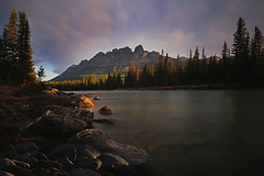 Sunrise at Castle Mountain (lfeng1014) Tags: sunriseatcastlemountain sunrise castlemountain bowriver rockymountains banffnationalpark banff alberta canada canadianrockies canon5dmarkiii longexposure ef1635mmf28liiusm travel lifeng