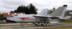 Vought F-8P Crusader 11 (707-348C) Tags: landivisiau lfrf vought jetfighter fighter marine aeronavale crusader f8 f8p preserved 11 specialcolours military