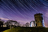 Purple sky (lsimons58) Tags: landscape nightscape castle park stars startrail universe space sky monument history streaking flash silhouette trees hill