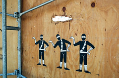 I'm a Little Teapot (Georgie_grrl) Tags: kensingtonmarket pentaxk1000 rikenon12828mm toronto ontario hangingoutwithmondo graffiti pasteup ninjas imalittleteapot funny humour streetart