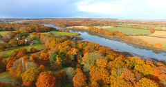 Hamble river in Autumn (richcovephotography) Tags: autum hamble river dji 4 phantom djiphantom4 400feet djidrone drone sky aerialphtographt