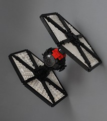 Special Forces TIE fighter (1) (Inthert) Tags: first order special forces tie fighter star wars lego moc force awakens sf space superiority sienar jaemus fleet systems tfa solar panels poe fn2187 pilot