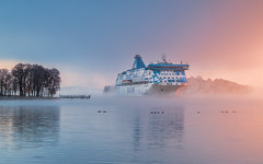 Some mornings are worth to get up (Teemu Kustila Photography) Tags: leefilters scenery landscape finland leicamtype240 sunrise outdoors beautiful seascape coast ship cruiseline ilobsterit