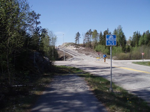 Torpumvejen (road 104) meets road 118 in Norway 2008