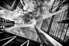 London skyline in banking district, London, UK (1) (Nick Bowman1) Tags: gherkin lloydsoflondon ilca sonyilca99m2 uk london leadenhall sonyzeissvariosonnar1635