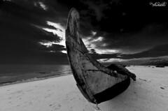 ... (Piyush.Saxenaa) Tags: nikon d5100 nikond5100 816 816mm sigma sigma816 piyush piyushsaxena piyushsaxenaa psphotography black white blackwhite sea seabeach sand sky cloud clouds nature scenery landscape boat sigma80160mmf4556 sigma816mmf4556 travel trip india water light bw blackandwhite beach