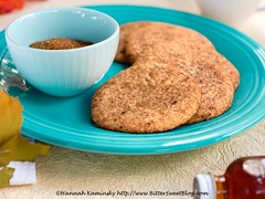 Salted Maple Latte Cookies 1 (Bitter-Sweet-) Tags: vegan food sweet baking dessert cookies snickerdoodles cinnamon spice maple latte coffee salt salted salty chewy soft easy quick fast comfortfood nostalgic caffeine smallbatch recipe dairyfree eggless syrup
