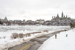 Parliament from the History Museum-2 (Dani_Girl) Tags: ottawa parliamenthill peacetower downtown parliamentbuildings snow winter ©2017danielledonders