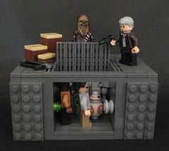 TFA: Chewie, We're Home (Beɳ) Tags: lego starwars millenniumfalcon chewbacca hansolo finn rey bb8