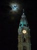 full wolf moon over city hall (BlogKing) Tags: philly cityhall clouds moon